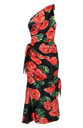 Женское шелковое платье DOLCE & GABBANA красного цвета, арт. F6I2LT/FSA0A | Фото 1