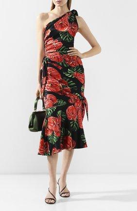 Женское шелковое платье DOLCE & GABBANA красного цвета, арт. F6I2LT/FSA0A | Фото 2