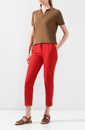 Женские льняные брюки LORO PIANA красного цвета, арт. FAL1221 | Фото 2