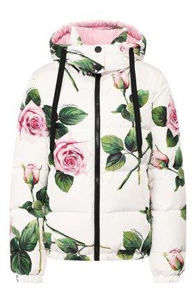 Женская пуховая куртка DOLCE & GABBANA белого цвета, арт. F9G93T/G7VDP | Фото 1
