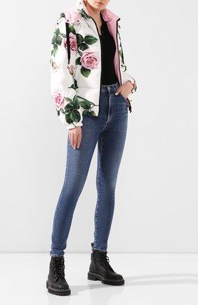 Женская пуховая куртка DOLCE & GABBANA белого цвета, арт. F9G93T/G7VDP | Фото 2