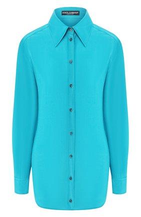Женская шелковая рубашка DOLCE & GABBANA бирюзового цвета, арт. F5M51T/FU1UQ | Фото 1