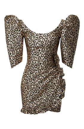 Женское мини-платье ALESSANDRA RICH золотого цвета, арт. FAB2155-F2758 | Фото 1
