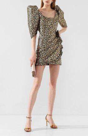 Женское мини-платье ALESSANDRA RICH золотого цвета, арт. FAB2155-F2758 | Фото 2