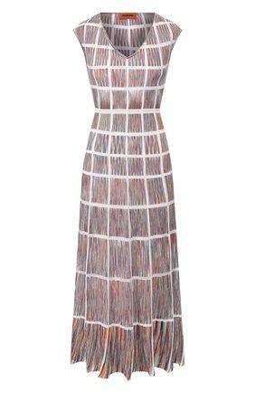 Женское хлопковое платье MISSONI голубого цвета, арт. MDG00646/BK00LE   Фото 1