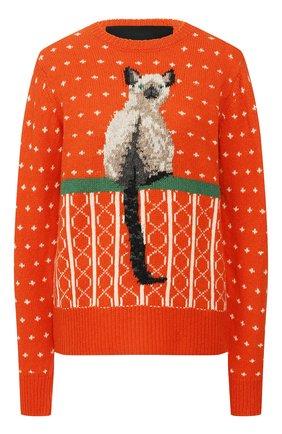 Женская шерстяной свитер MARC JACOBS RUNWAY оранжевого цвета, арт. K6000007   Фото 1