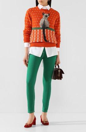 Женская шерстяной свитер MARC JACOBS RUNWAY оранжевого цвета, арт. K6000007   Фото 2