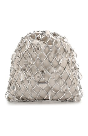 Женская сумка PRADA серебряного цвета, арт. 1BC075-2D6Q-F0118-OPO | Фото 1