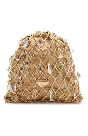 Женская сумка PRADA золотого цвета, арт. 1BC075-2D6Q-F0056-OPO | Фото 1