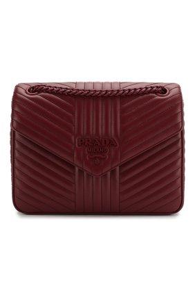 Женская сумка diagramme PRADA бордового цвета, арт. 1BD226-WD91-F0KY5-AOI | Фото 1