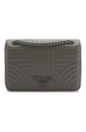 Женская сумка PRADA серого цвета, арт. 1BD227-WD91-F0LU5-AOI | Фото 1