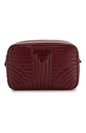 Женская сумка diagramme PRADA бордового цвета, арт. 1BH083-WD91-F0KY5-IOI | Фото 1