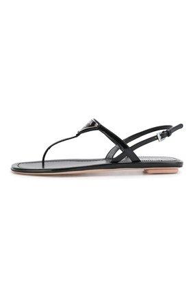 Женские кожаные сандалии PRADA черного цвета, арт. 1Y032M-69-F0002-5 | Фото 2