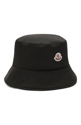 Женская панама MONCLER черного цвета, арт. F1-093-3B706-00-C0410 | Фото 1