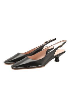 Женская кожаные туфли cuoio t35 TOD'S черного цвета, арт. XXW49C0CZ2000N | Фото 1