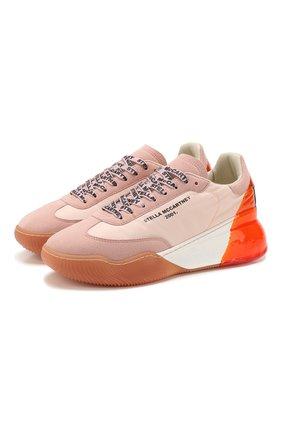 Женские текстильные кроссовки STELLA MCCARTNEY розового цвета, арт. 800148/N0068 | Фото 1