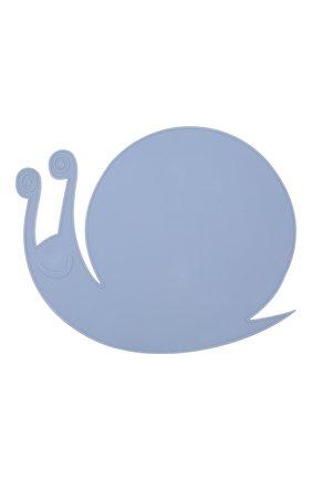 Детского плейсмат snail BLOOMINGVILLE голубого цвета, арт. 92300912 | Фото 1