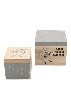Мужского набор коробок для хранения BLOOMINGVILLE серого цвета, арт. 50209924   Фото 1