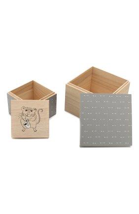 Мужского набор коробок для хранения BLOOMINGVILLE серого цвета, арт. 50209924   Фото 2