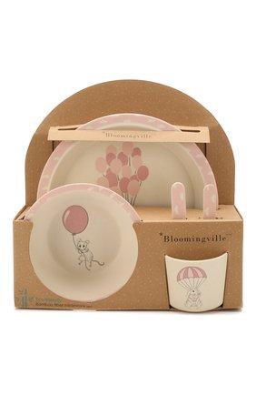 Детского набор посуды BLOOMINGVILLE розового цвета, арт. 82046384 | Фото 1