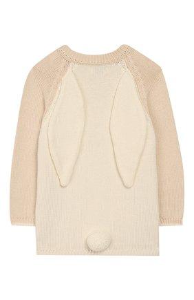 Детский пуловер APERO бежевого цвета, арт. AS534_3WH | Фото 2