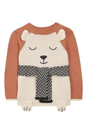 Детский пуловер APERO коричневого цвета, арт. AS533_3TE | Фото 1