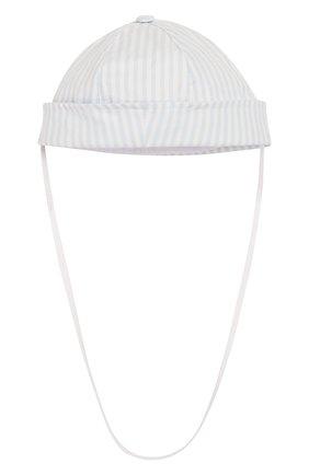 Детская хлопковая шапка ALETTA голубого цвета, арт. RC00386A | Фото 1