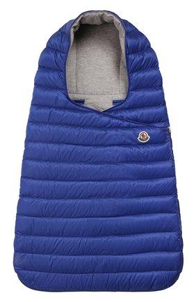Детский пуховый конверт MONCLER синего цвета, арт. F1-951-1G701-00-C0401 | Фото 1