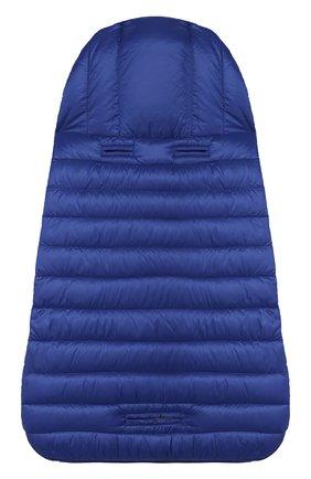 Детский пуховый конверт MONCLER синего цвета, арт. F1-951-1G701-00-C0401 | Фото 2