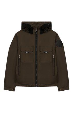 Детского куртка MONCLER хаки цвета, арт. F1-954-1A703-20-68352/12-14A | Фото 1