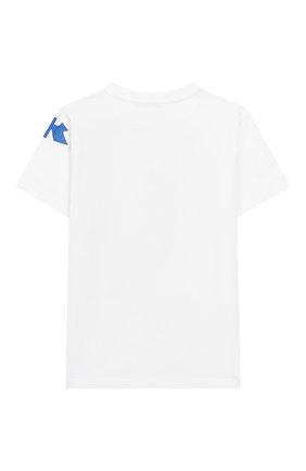 Детская хлопковая футболка MONCLER белого цвета, арт. F1-954-8C717-20-83907/8-10A | Фото 2