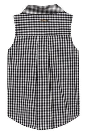 Детское хлопковая блузка TWINSET черно-белого цвета, арт. 201GJ2095/6A-10A | Фото 2