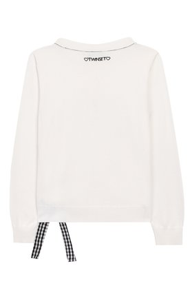 Детский пуловер TWINSET белого цвета, арт. 201GJ3130/6A-10A | Фото 2