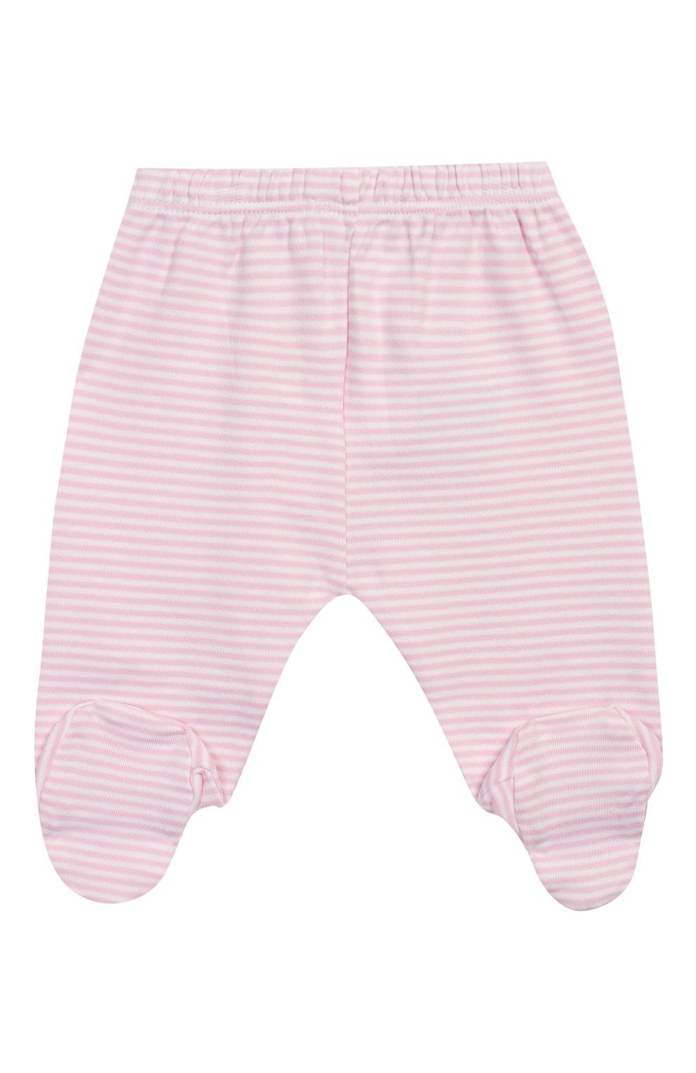 Детские хлопковые ползунки KISSY KISSY розового цвета, арт. 44107 | Фото 2