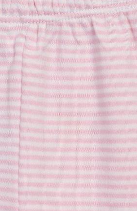 Детские хлопковые ползунки KISSY KISSY розового цвета, арт. 44107 | Фото 3