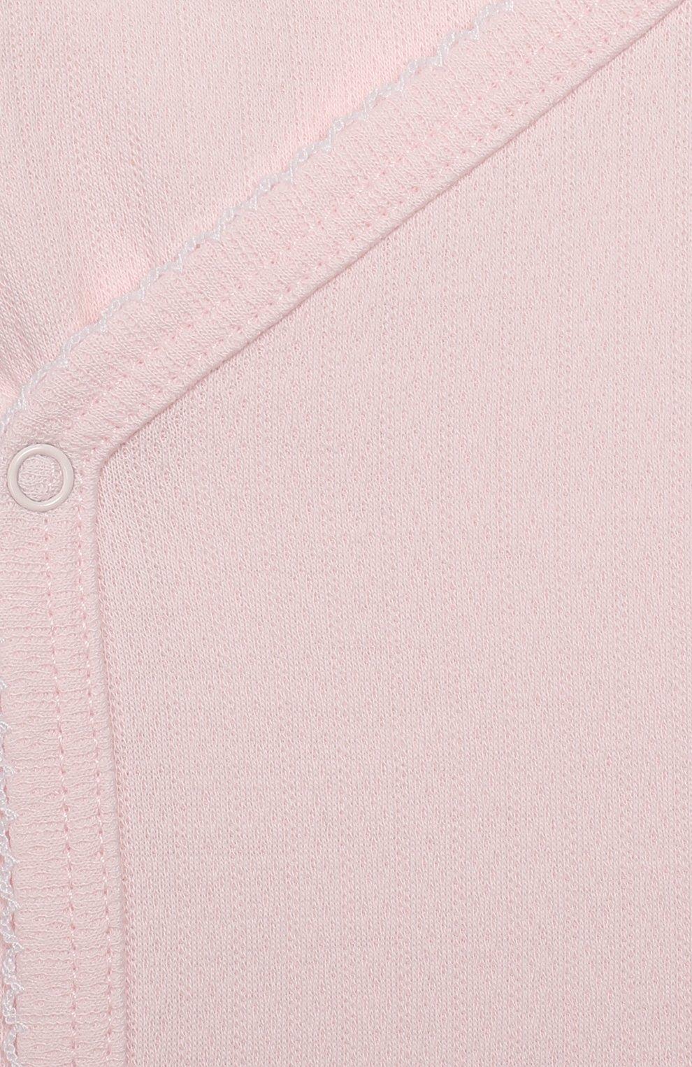 Детский хлопковая распашонка KISSY KISSY розового цвета, арт. 14120   Фото 3