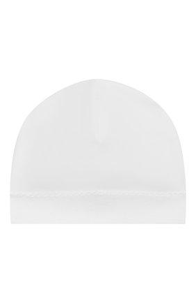 Детского хлопковая шапка KISSY KISSY белого цвета, арт. 34606 | Фото 1
