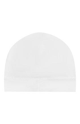 Детского хлопковая шапка KISSY KISSY белого цвета, арт. 34606 | Фото 2