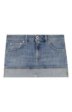 Детская джинсовая юбка DONDUP голубого цвета, арт. YG003/DS0107G/AH9 | Фото 1