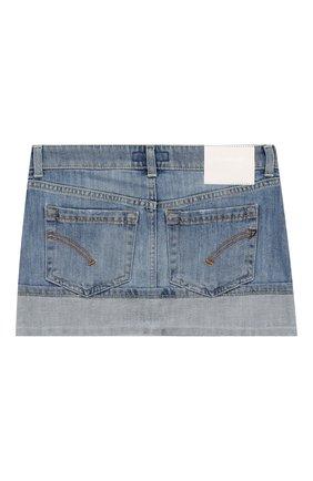 Детская джинсовая юбка DONDUP голубого цвета, арт. YG003/DS0107G/AH9 | Фото 2