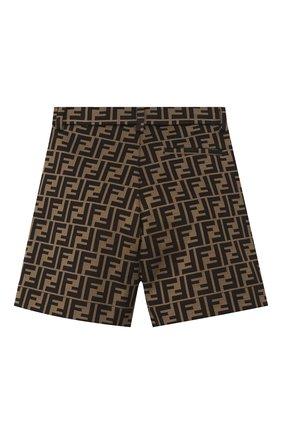 Детские хлопковые шорты FENDI коричневого цвета, арт. JMF274/A6A6/8A-12+ | Фото 2