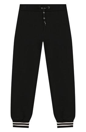 Детские хлопковые джоггеры FENDI черного цвета, арт. JMF249/5V0/8A-12+ | Фото 1