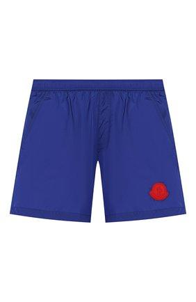 Детские плавки-шорты MONCLER синего цвета, арт. F1-954-2C701-20-53326/4-6A | Фото 1