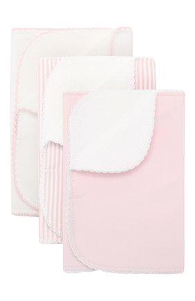 Детского комплект из 3-х пеленок KISSY KISSY розового цвета, арт. 384121   Фото 1