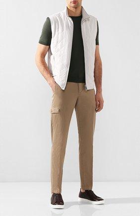 Мужские кожаные кеды H`D`S`N BARACCO темно-коричневого цвета, арт. BRYAN.6* | Фото 2