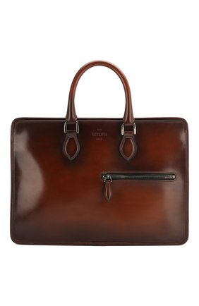 Мужской кожаный портфель BERLUTI коричневого цвета, арт. M200491   Фото 1