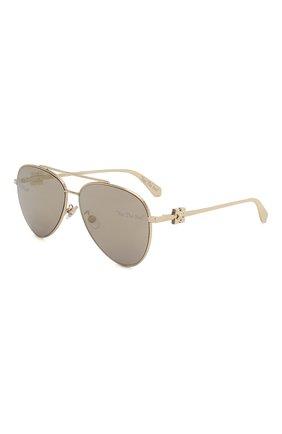 Мужские солнцезащитные очки OFF-WHITE золотого цвета, арт. 0MRI004S202530209300 | Фото 1
