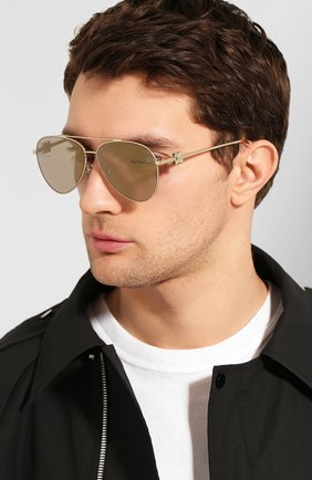 Мужские солнцезащитные очки OFF-WHITE золотого цвета, арт. 0MRI004S202530209300 | Фото 2