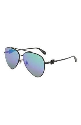 Мужские солнцезащитные очки OFF-WHITE черного цвета, арт. 0MRI004S202530201000 | Фото 1