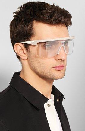 Мужские солнцезащитные очки OFF-WHITE серого цвета, арт. 0MRI003S20I060410601 | Фото 2